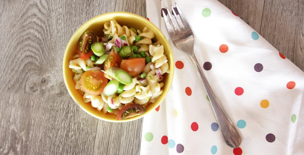 Roasted Asparagus and Lemon Butter Pasta Salad